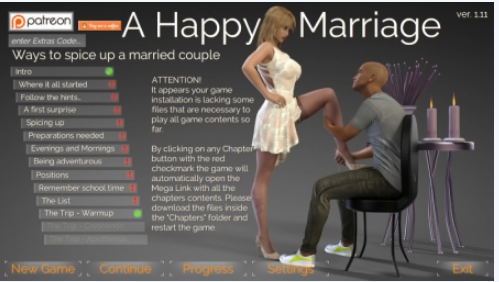 A Happy Marriage PC Game Walkthrough Download for Mac